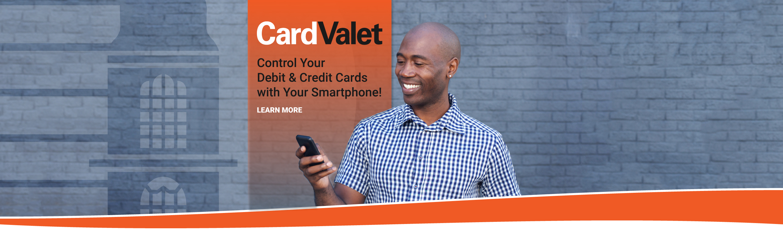 CardValet: Control You Debit and Credit Cards with Your Smartphone. Learn more.