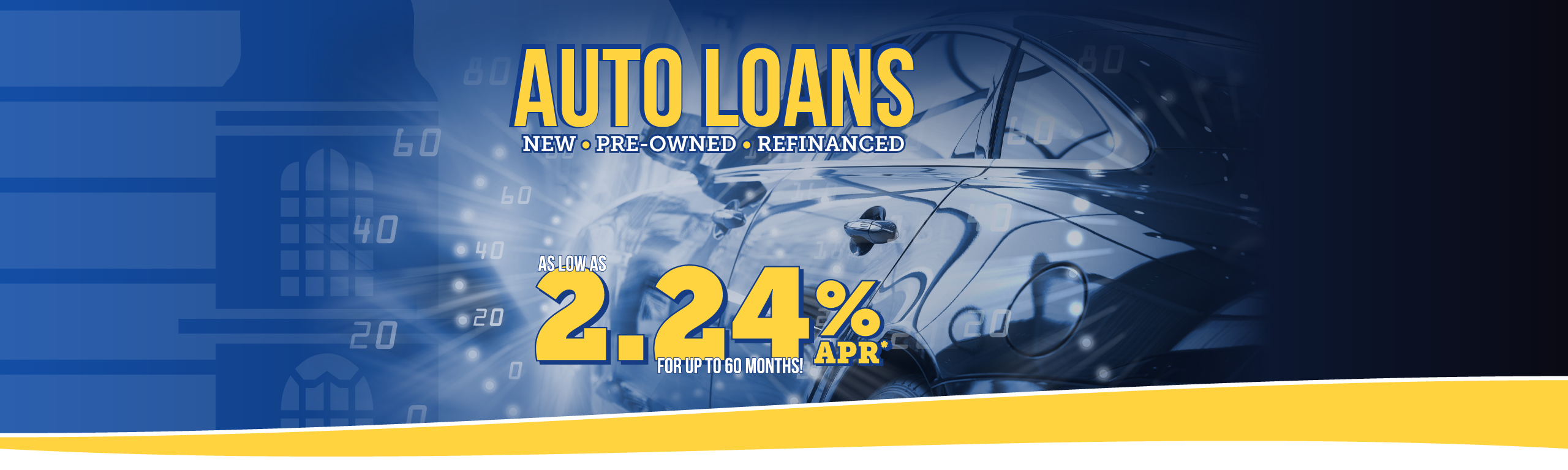 Auto Loans New Used Refinance Rates as low as 2.25% APR*